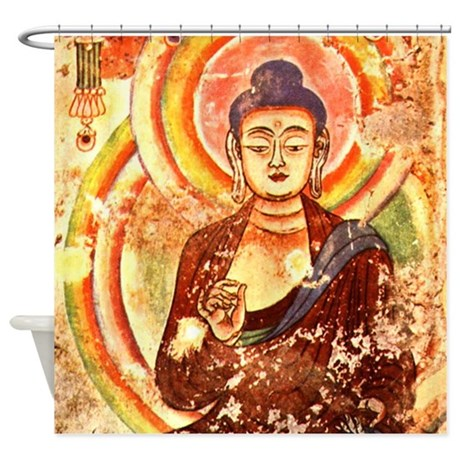Vintage Buddha Shower Curtain