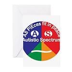 Autistic Symbol Greeting Cards (Pk of 20)