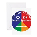 Autistic Symbol Greeting Cards (Pk of 10)