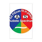 Autistic Symbol Mini Poster Print