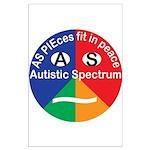 Autistic Symbol Large Poster