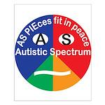 Autistic Symbol Small Poster