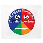Autistic Symbol King Duvet