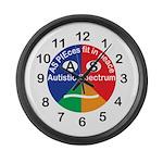 Autistic Symbol Large Wall Clock