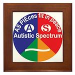 Autistic Symbol Framed Tile