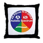 Autistic Symbol Throw Pillow