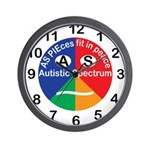 Autistic Symbol Wall Clock