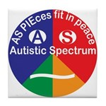 Autistic Symbol Tile Coaster