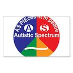 Autistic Symbol Sticker (Rectangle 50 pk)