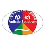 Autistic Symbol Sticker (Oval 10 pk)