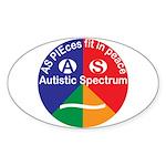 Autistic Eye Symbol Sticker (oval)