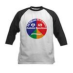 Autistic Symbol Kids Baseball Jersey