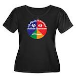Autistic Women's Plus Size Scoop Neck Dark T-Shirt