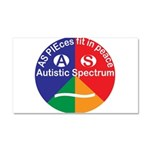 Autistic Symbol Car Magnet 20 x 12