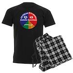 Autistic Symbol Men's Dark Pajamas