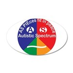 Autistic Eye Symbol 35x21 Oval Wall Decal