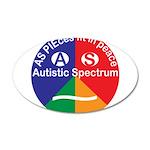 Autistic Eye Symbol 20x12 Oval Wall Decal