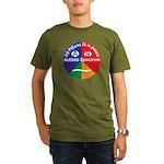 Autistic Symbol Organic Men's T-Shirt (dark)