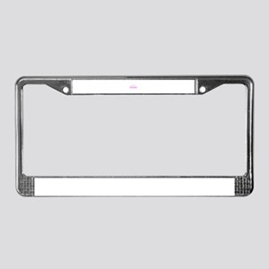 PinkCloud01 License Plate Frame