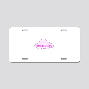 PinkCloud01 Aluminum License Plate