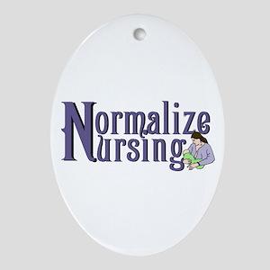 Normalize Nursing Ornament (Oval)