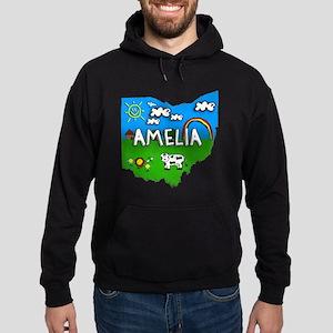 Amelia, Ohio. Kid Themed Hoodie (dark)
