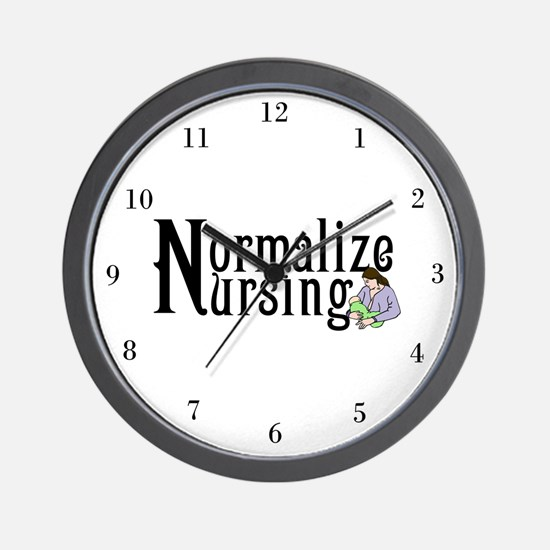 Normalize Nursing Wall Clock