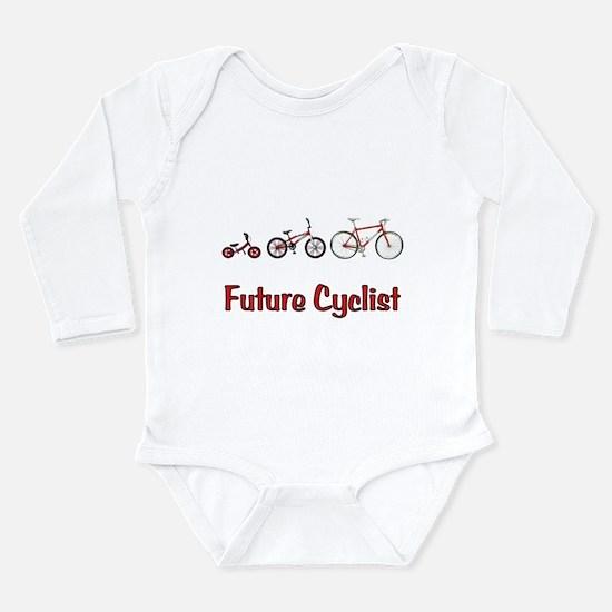 Future Cyclist Long Sleeve Infant Bodysuit