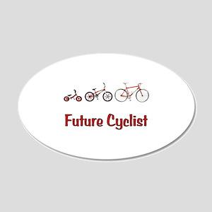 Future Cyclist 22x14 Oval Wall Peel