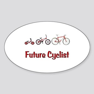 Future Cyclist Sticker (Oval)