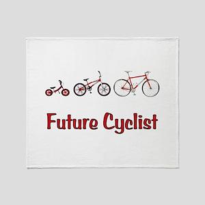 Future Cyclist Throw Blanket