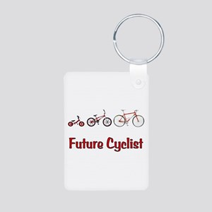 Future Cyclist Aluminum Photo Keychain