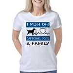 I Run on Caffeine, Dogs &a Women's Classic T-Shirt