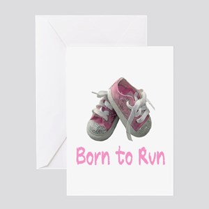 Born to Run Girl Greeting Card