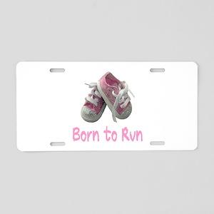 Born to Run Girl Aluminum License Plate