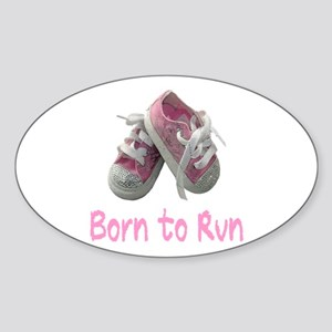 Born to Run Girl Sticker (Oval)