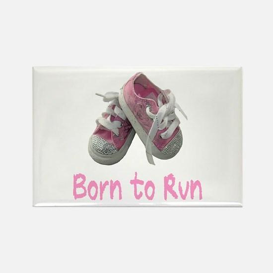 Born to Run Girl Rectangle Magnet