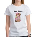 Personalize Girls Easter Women's T-Shirt