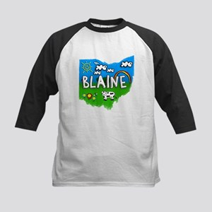 Blaine, Ohio. Kid Themed Kids Baseball Jersey