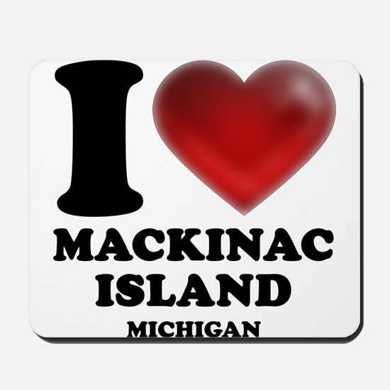 I Heart Mackinac Island Mousepad
