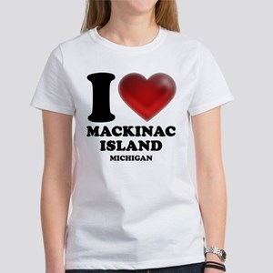 I Heart Mackinac Island Women's T-Shirt