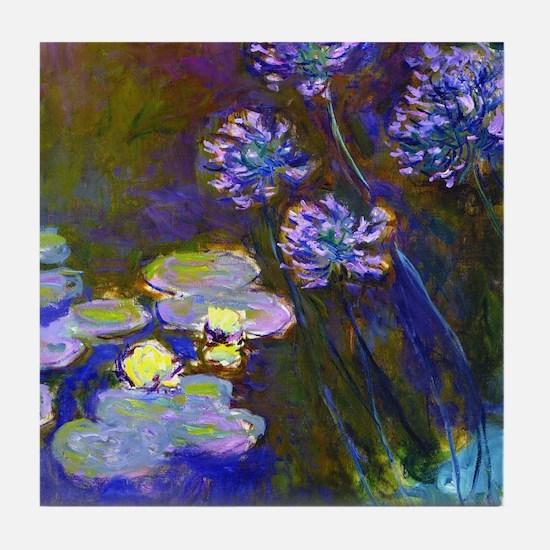 Monet - Lilies Tile Coaster