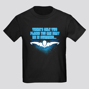 2 Places to Beat Me Kids Dark T-Shirt
