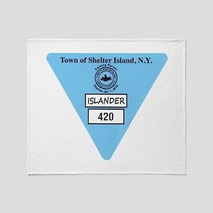 Shelter Island Beach Sticker Throw Blanket