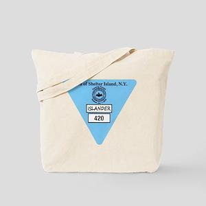 Shelter Island Beach Sticker Tote Bag