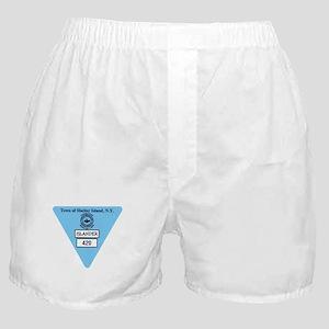 Shelter Island Beach Sticker Boxer Shorts