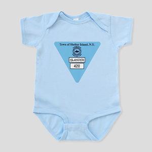 Shelter Island Beach Sticker Infant Bodysuit