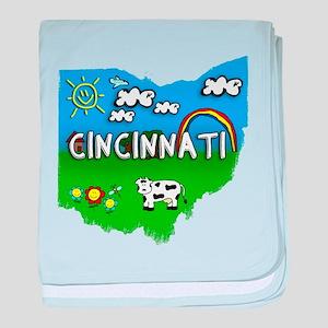 Cincinnati, Ohio. Kid Themed baby blanket