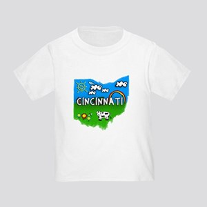 Cincinnati, Ohio. Kid Themed Toddler T-Shirt