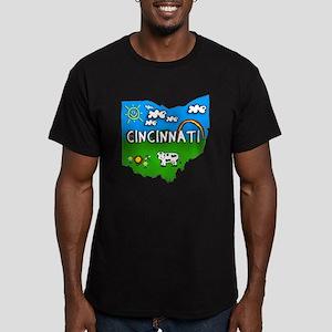 Cincinnati, Ohio. Kid Themed Men's Fitted T-Shirt
